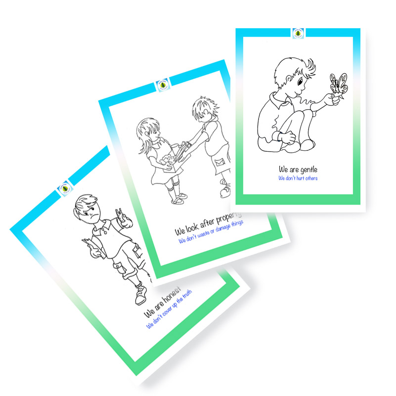 your own school's flash cards & teaching aids