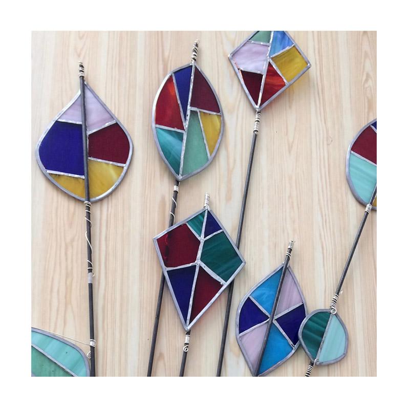 glass garden stakes