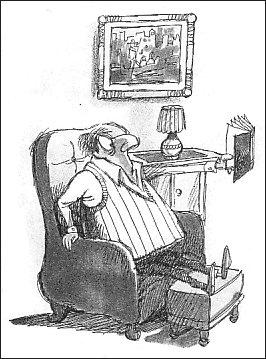 Senior cartoon: Do you need longer arms?