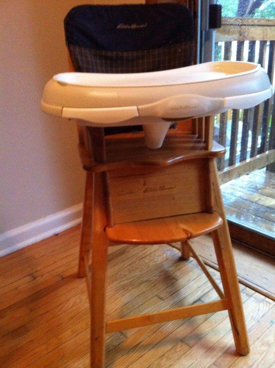 eddie bauer multi stage high chair healthy desk swapsity items highchair wooden multistage description
