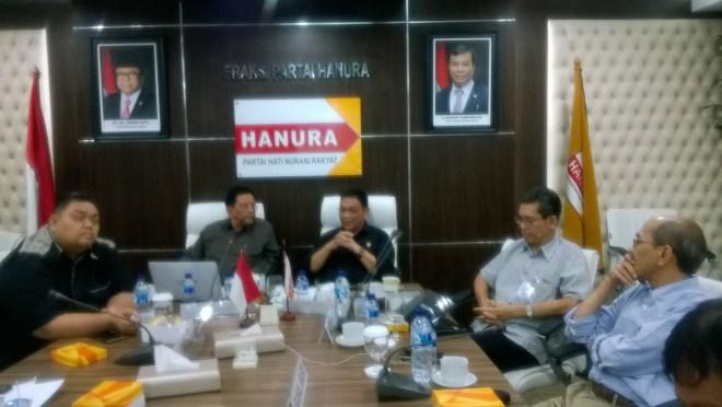 FGD Holding BUMN dan Rencana Revisi UU NO 19 Tahun 2003 yang diselenggarakan Fraksi HANURA