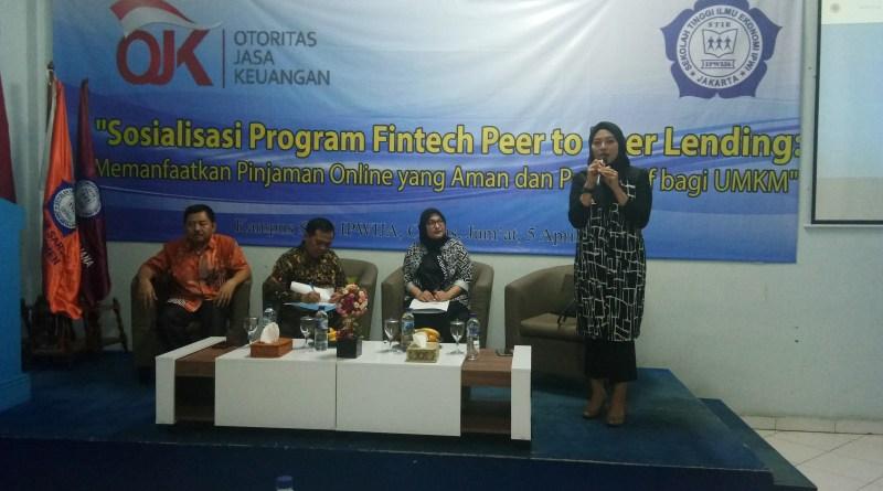 OJK Gelar Sosialisasi Fintech Lending bagi Mahasiswa STIE IPWIJA