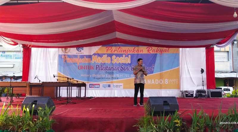 Lestarikan Seni dan Budaya, Kominfo dan DPR Gelar Pertunjukan Rakyat di Manado