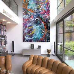 Kitchen Paints Flooring Large Size Multi-coloured Painting Sold | Defying Gravity