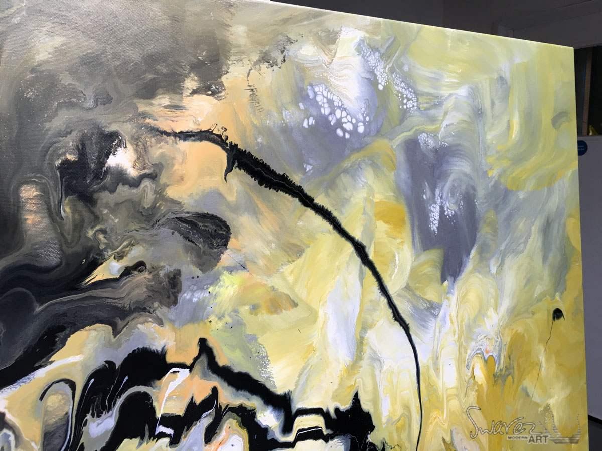 Yellow black and grey abstract painting  Illumination Theory