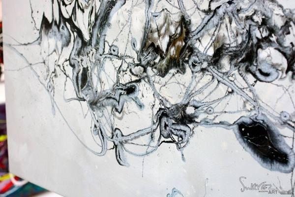 Black And White Original Art Called 'fanfare ' Swarez