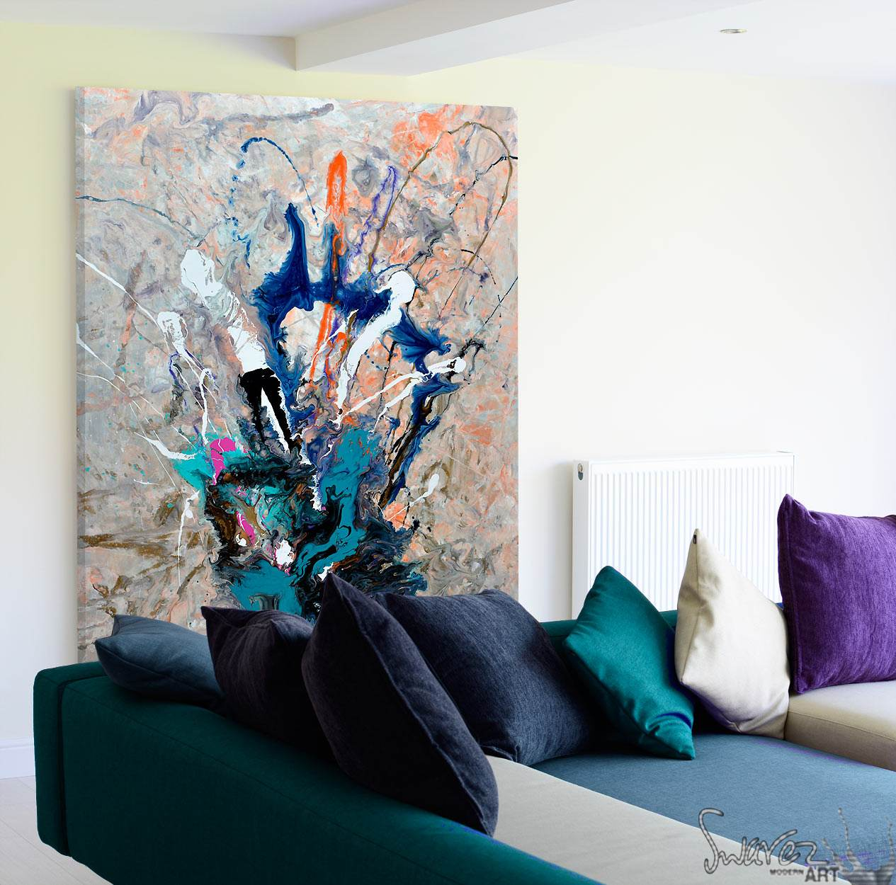 sofa paintings abstract faux leather sectional sofas an painting with beautiful colours and amazing