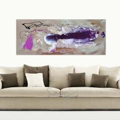 Sofa Paintings Abstract Electric Bed Memory Foam Small Taupe And Purple Original Painting By