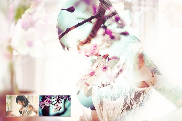 Double Exposure Photoshop Action Free Download
