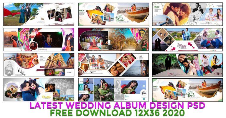 Latest wedding album design psd free download 12×36 2020
