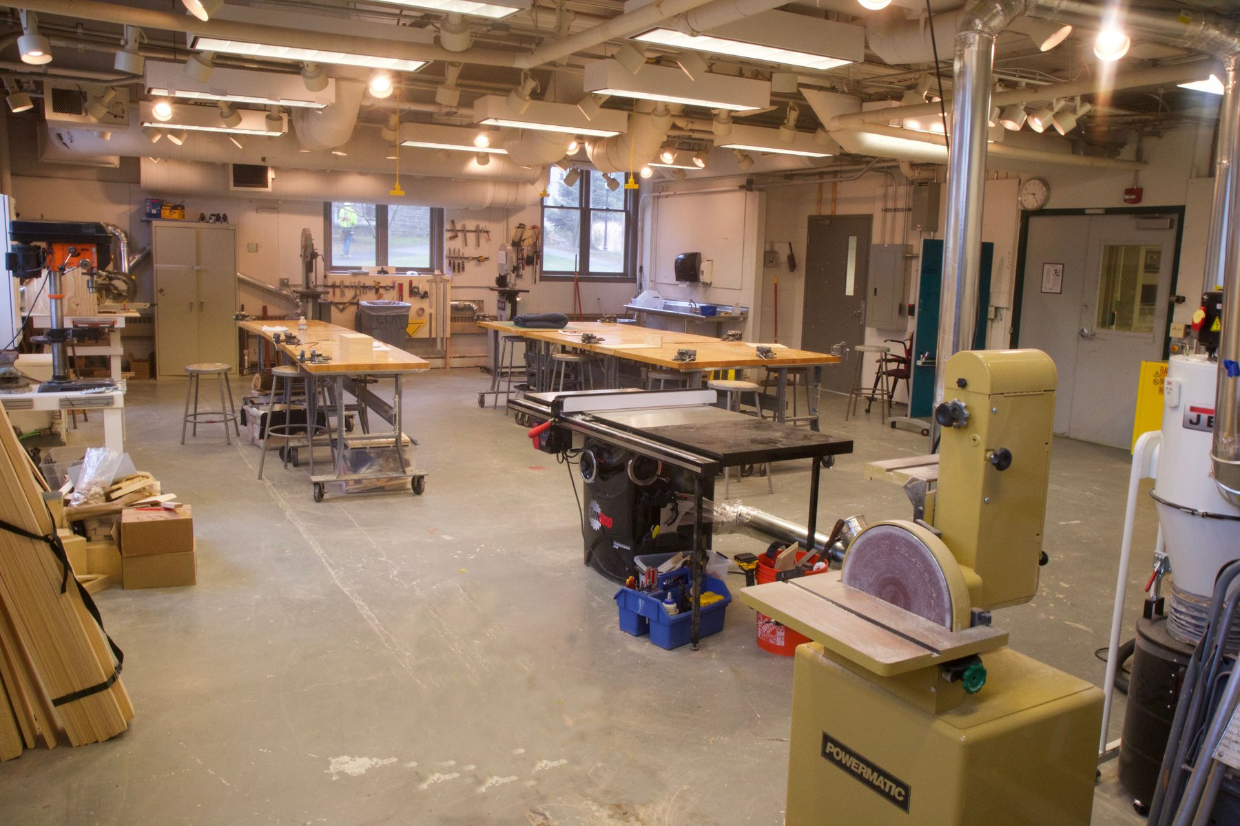 Wood Shop Makerspace Swarthmore College