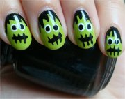 nail art tutorial frankenstein