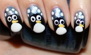 nail art tutorial penguin nails