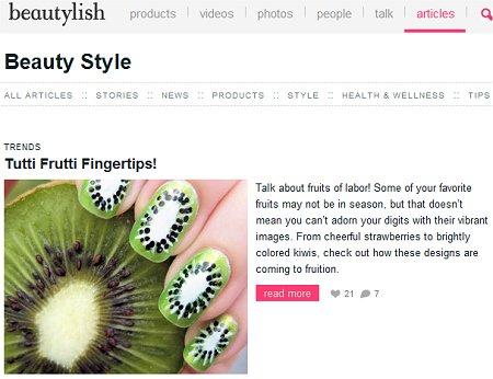 Swatch And Learn On Beautylish Strawberry Nail Art