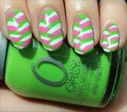 nail art summery fishtail braid