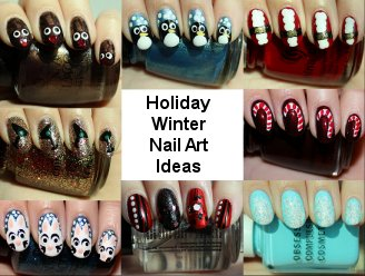Winter Holiday Nail Art Ideas Tutorials
