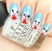 nail art tutorial shark nails