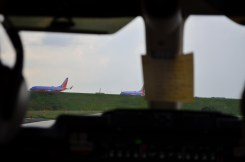 Southwest 737s Ready For Takeoff