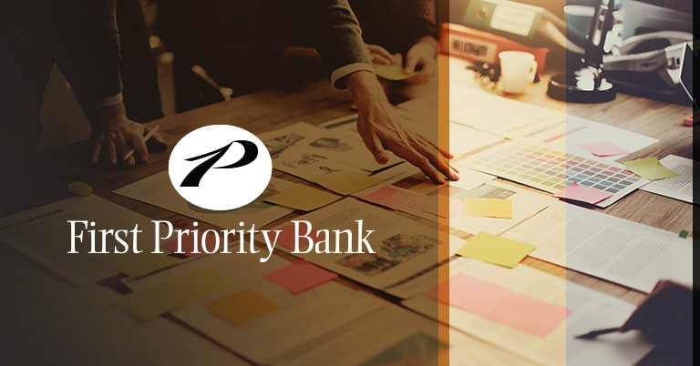 The logo of First Priority Bank of Malvern, Pa.