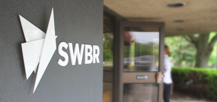 SWBR logo outside the agency's headquarters