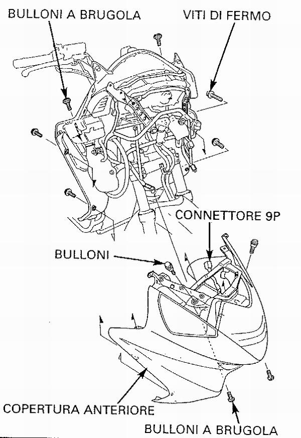 Smontare lo scudo anteriore