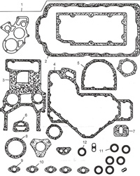 U5LB1163 Perkins Bottom Gasket Set
