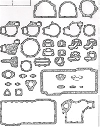 U5LB1224 Perkins Bottom Gasket Set