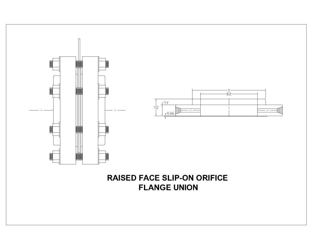 medium resolution of class 300 raised face slip on orifice flanges