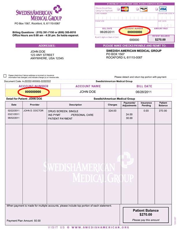 Pay My Bill SwedishAmerican