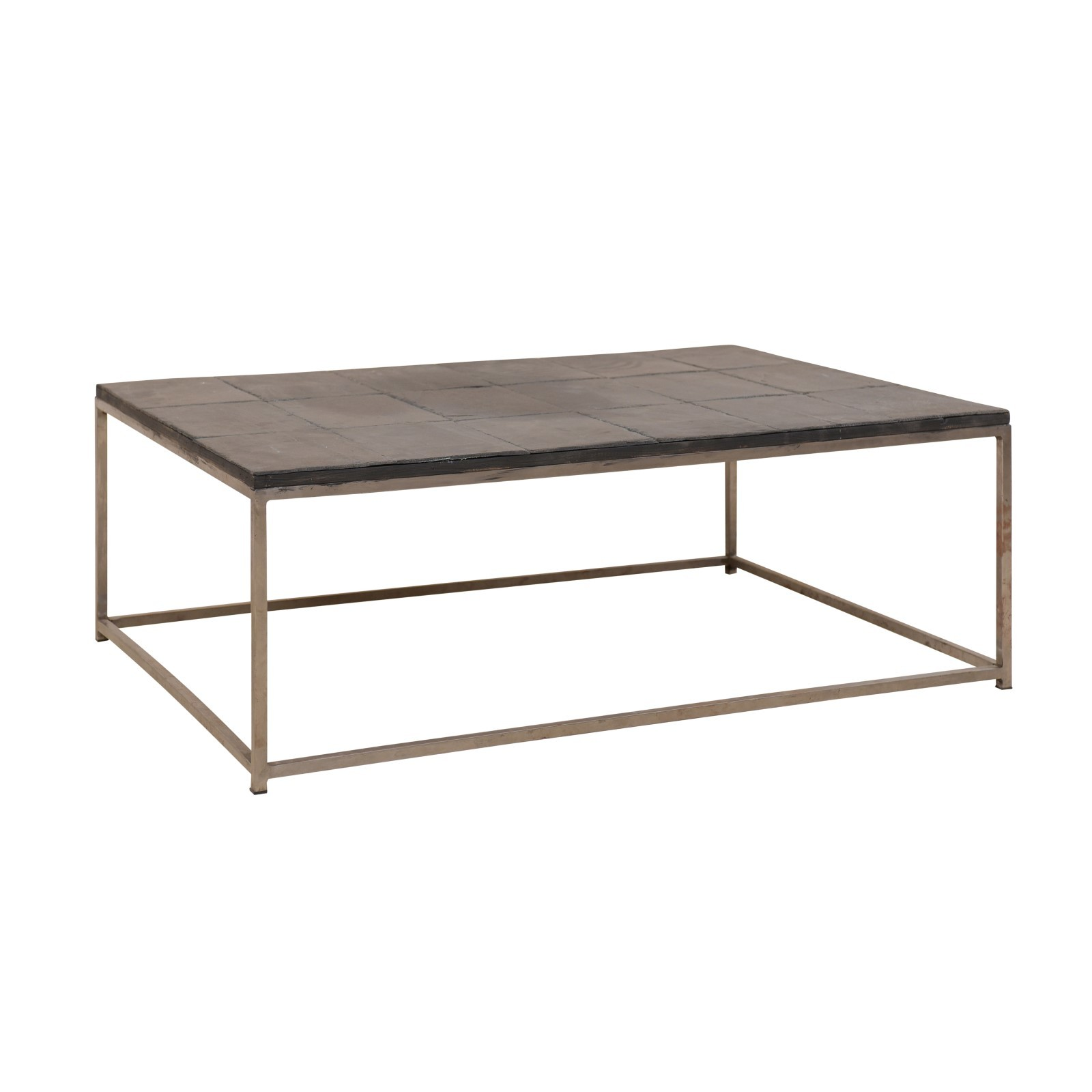 slate tile silver metal coffee table 1117 a tyner antiques
