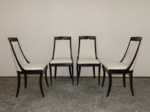 Set Of 4 Swedish Ebonized Chairs 302 . Tyner Antiques