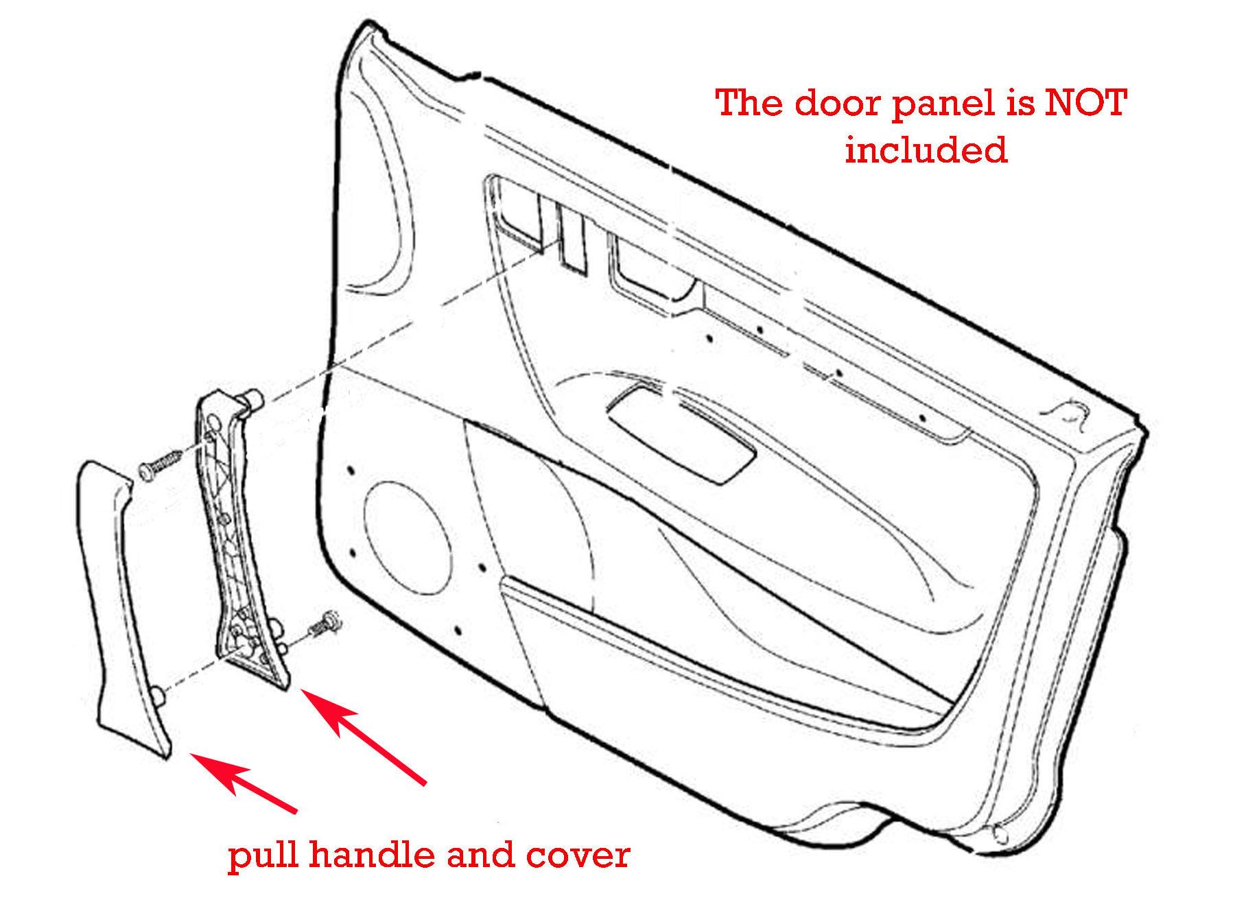 39986959 Interior door pull handle mocha sand beige color