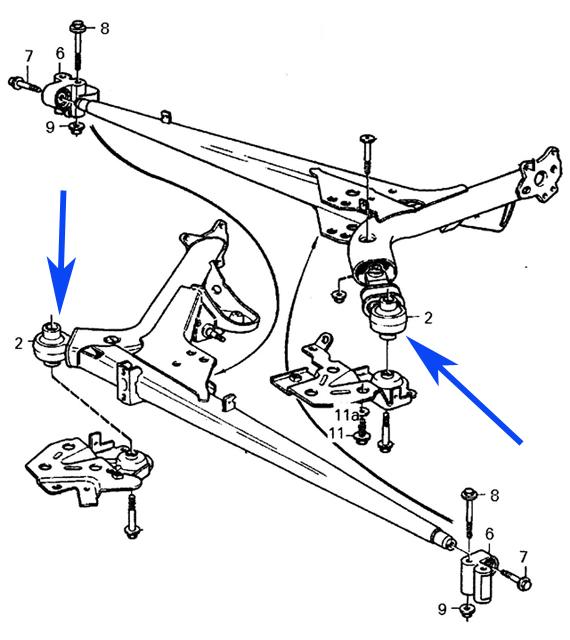 VOLVO C70 S70 V70 850 REAR CONTROL ARM TRAILING ARM MOUNT