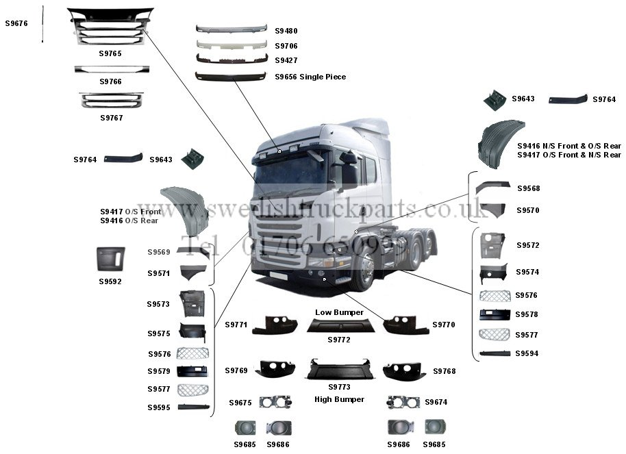 Cab Body Parts R/G Series (Facelift 2009-)