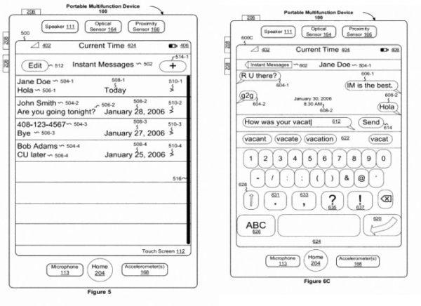 registrovani patenti Apple