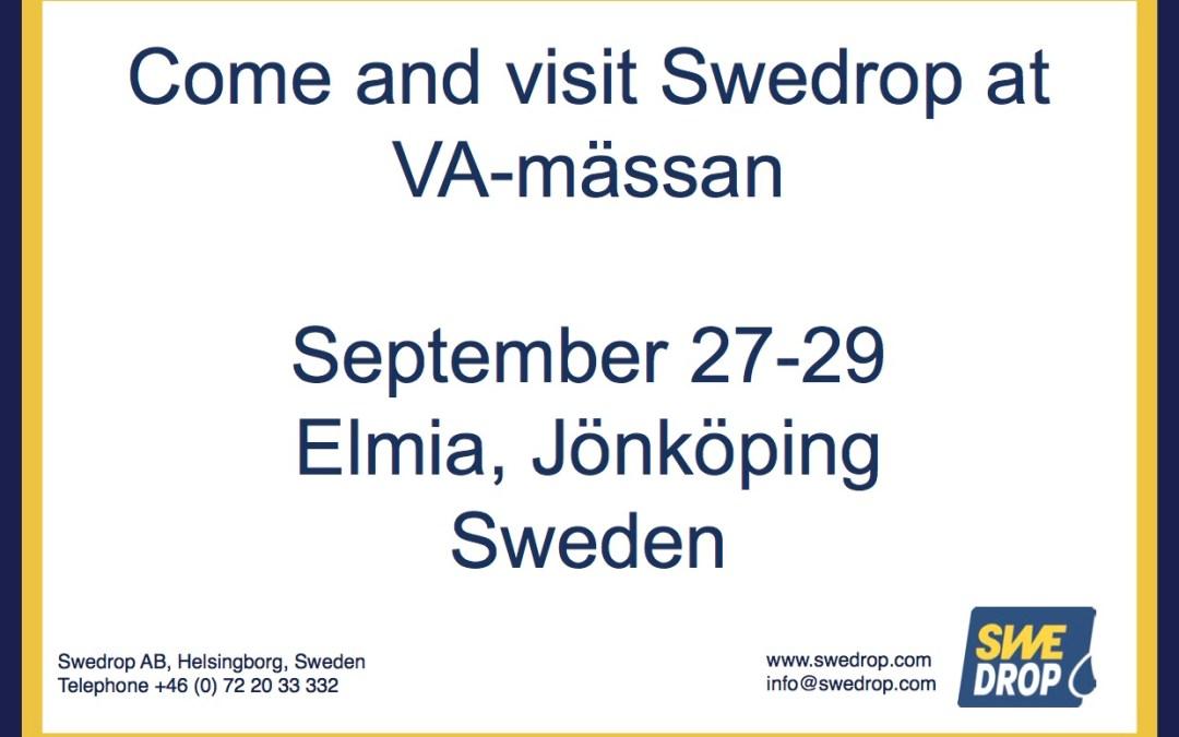 Swedrop to VA-mässan in Jönköping, Sweden. September 27-29