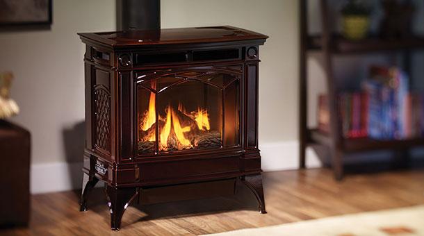 Regency Clic S2400 Wood Stove Shown With Nickel Accent Black Door And Pedestal