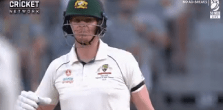 steve smith in 1st test vs new zealand at pearth