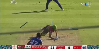 A perfect yorker from Wahab Riaz in Mzansi Super League