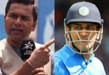 Aakash Chopra and MS Dhoni