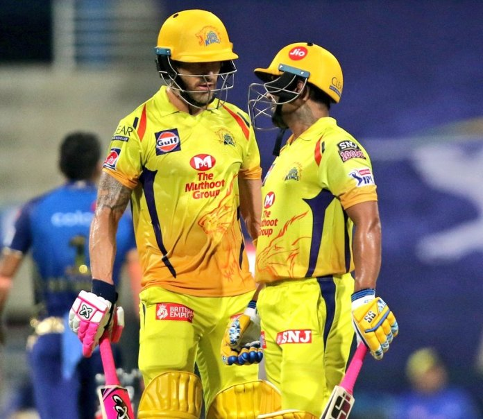 Faf Du Plessis and Amabati Rayudu in first match of IPL 2020 vs Mumbai Indians, MI and CSK