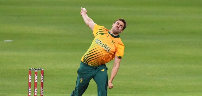 Anrich nortje in england vs south africa t20i series 2020