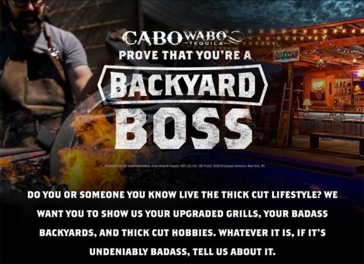 CaboWabo BackYard Bosses Contest