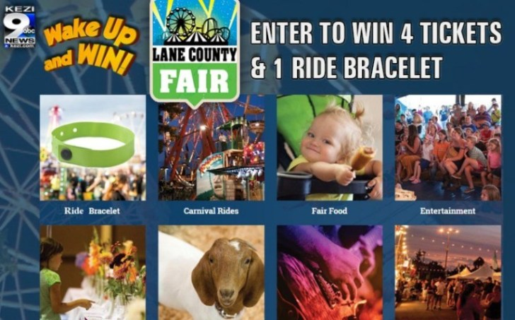 KEZI Wake Up And Win Lane County Fair Sweepstakes