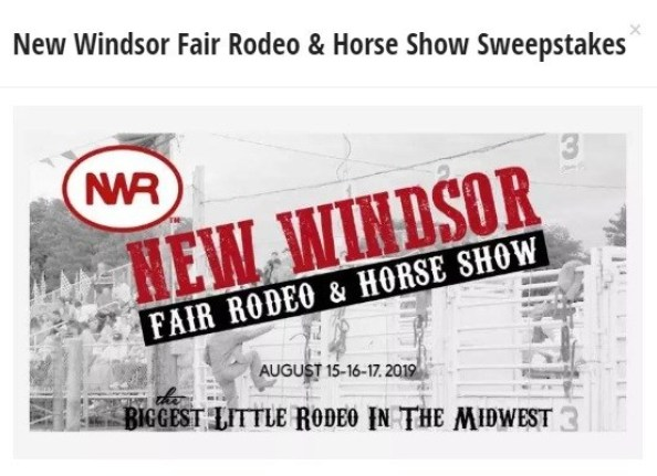 New Windsor Fair Rodeo And Horse Show Sweepstakes