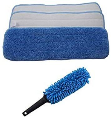 (Pack of 10) Microfiber Mop Pads 18″ x 6″ with Duster Wand Giveaway