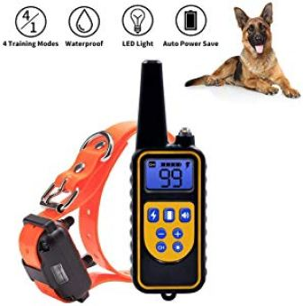 NACRL Dog Training Collar with LED Light – Electronic Rechargeable Dog Shock Collar – Vibration Giveaway