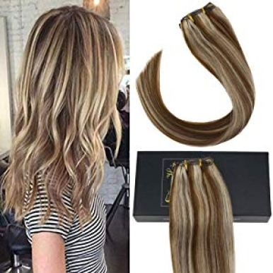 Sunny 14inch Thick Human Hair Extensions Clip in Human… Sweepstakes