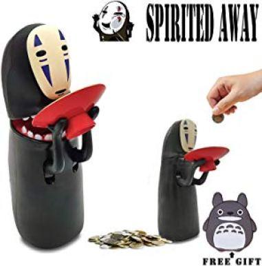 Kijea Spirited Away No Face Man Coin Bank Auto Eat Coin Piggy Bank Giveaway