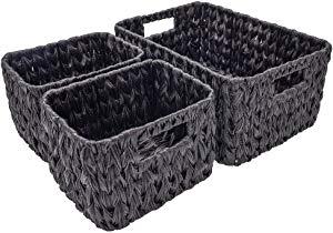 StorageWorks Set of 3 Hand Woven Resin Storage Basket Sweepstakes
